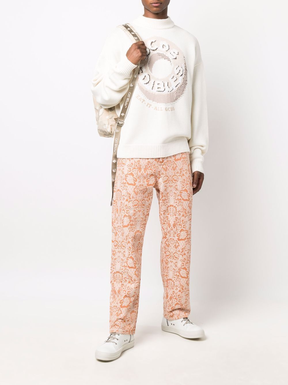 Picture of Gcds | Candy-Print Roll Neck Jumper