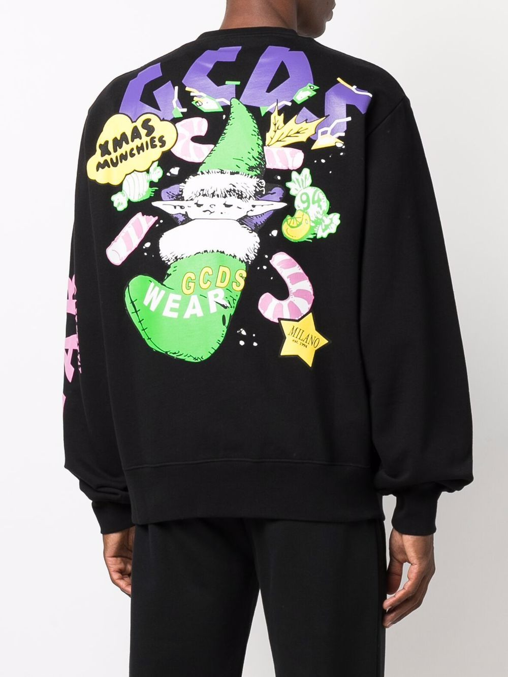 Picture of Gcds   Xmas-Print Cotton Sweatshirt