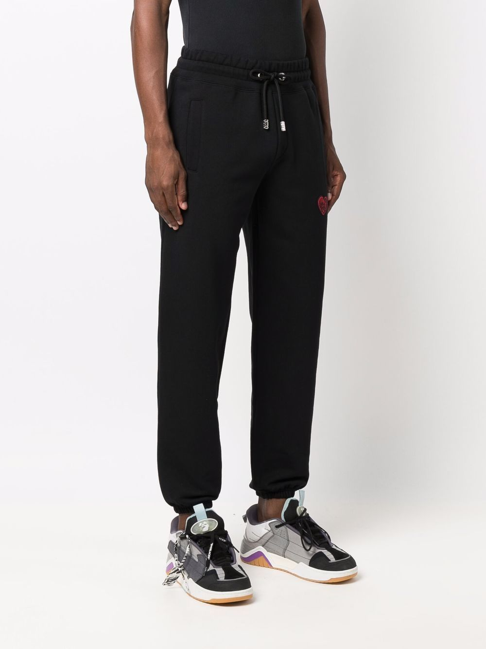 Picture of Gcds | Heart-Embroidered Track Pants