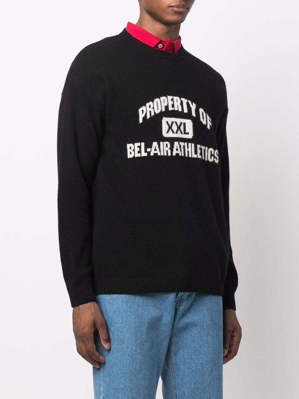 Picture of Bel Air Athletics   Logo-Print Crew Neck Sweater