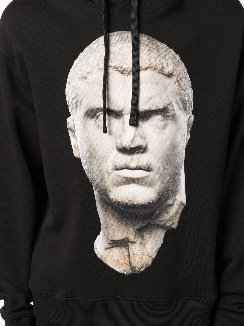 Picture of Ih Nom Uh Nit   Statue-Print Cotton Hoodie