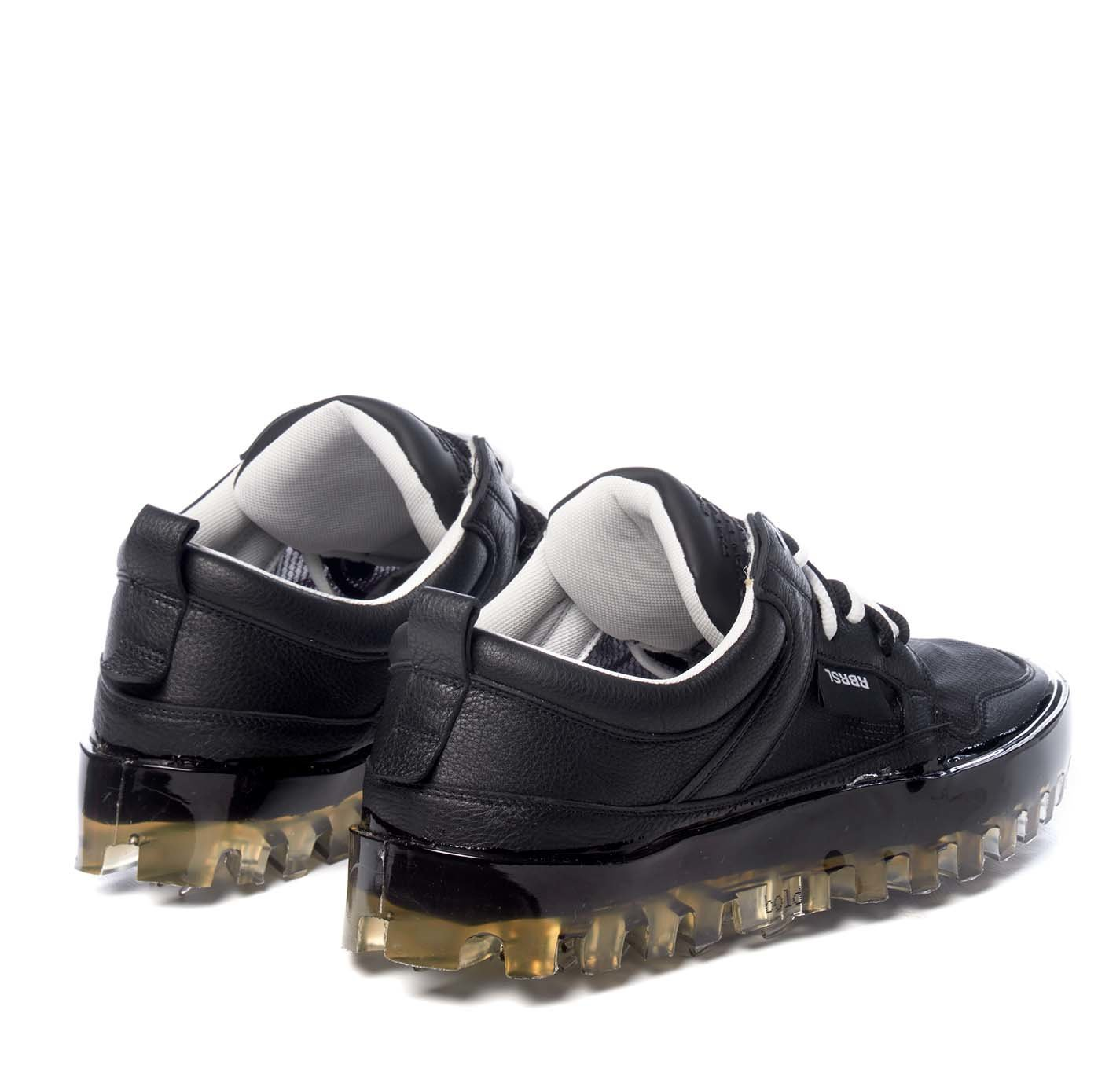 Picture of Rbrsl   Bold Low-Top Black Leather Trainers