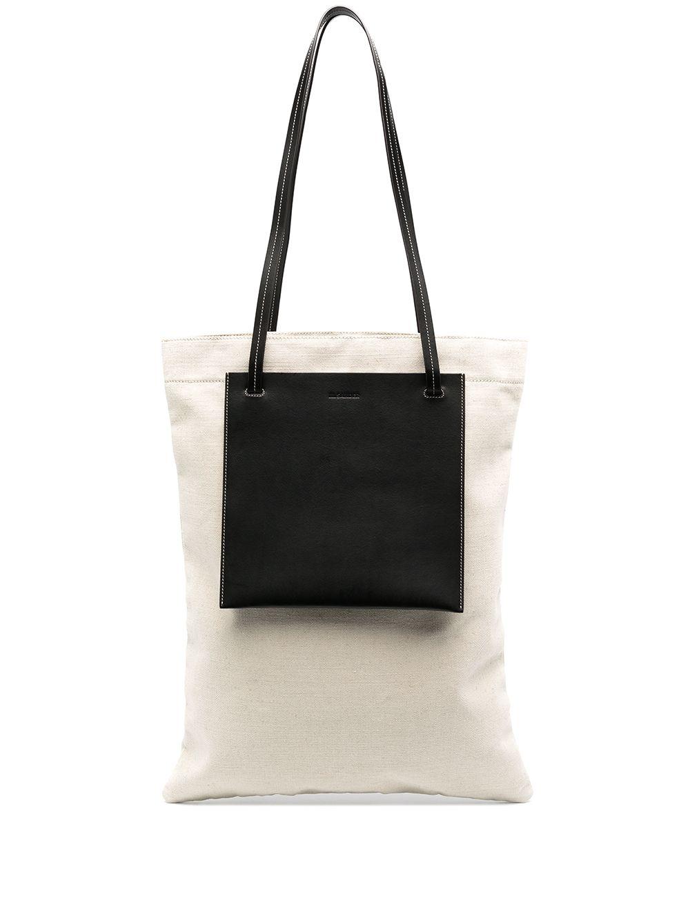 Picture of Jil Sander | Contrast-Pocket Tote Bag