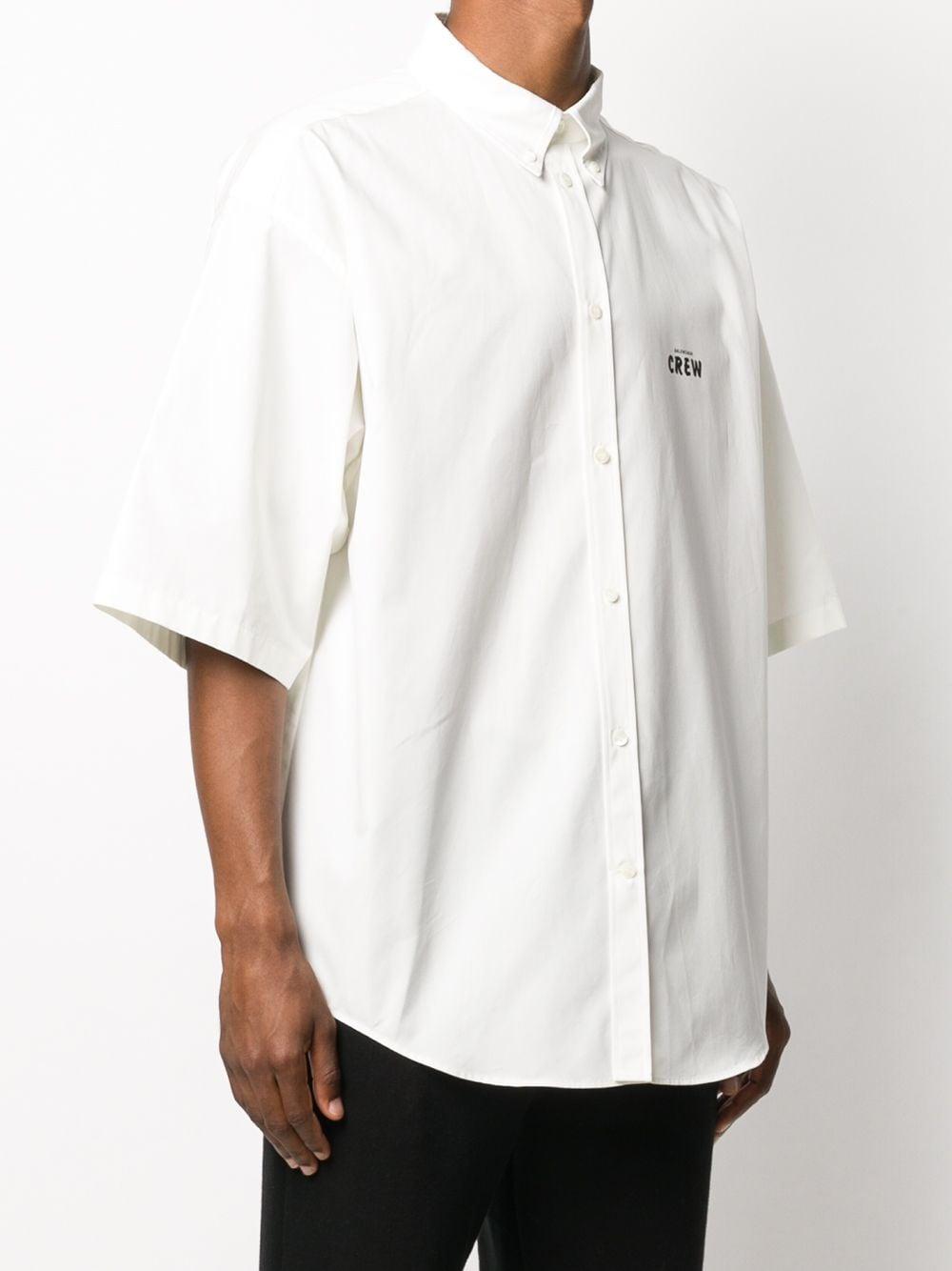 Picture of Balenciaga | Short Sleeve Cotton Shirt