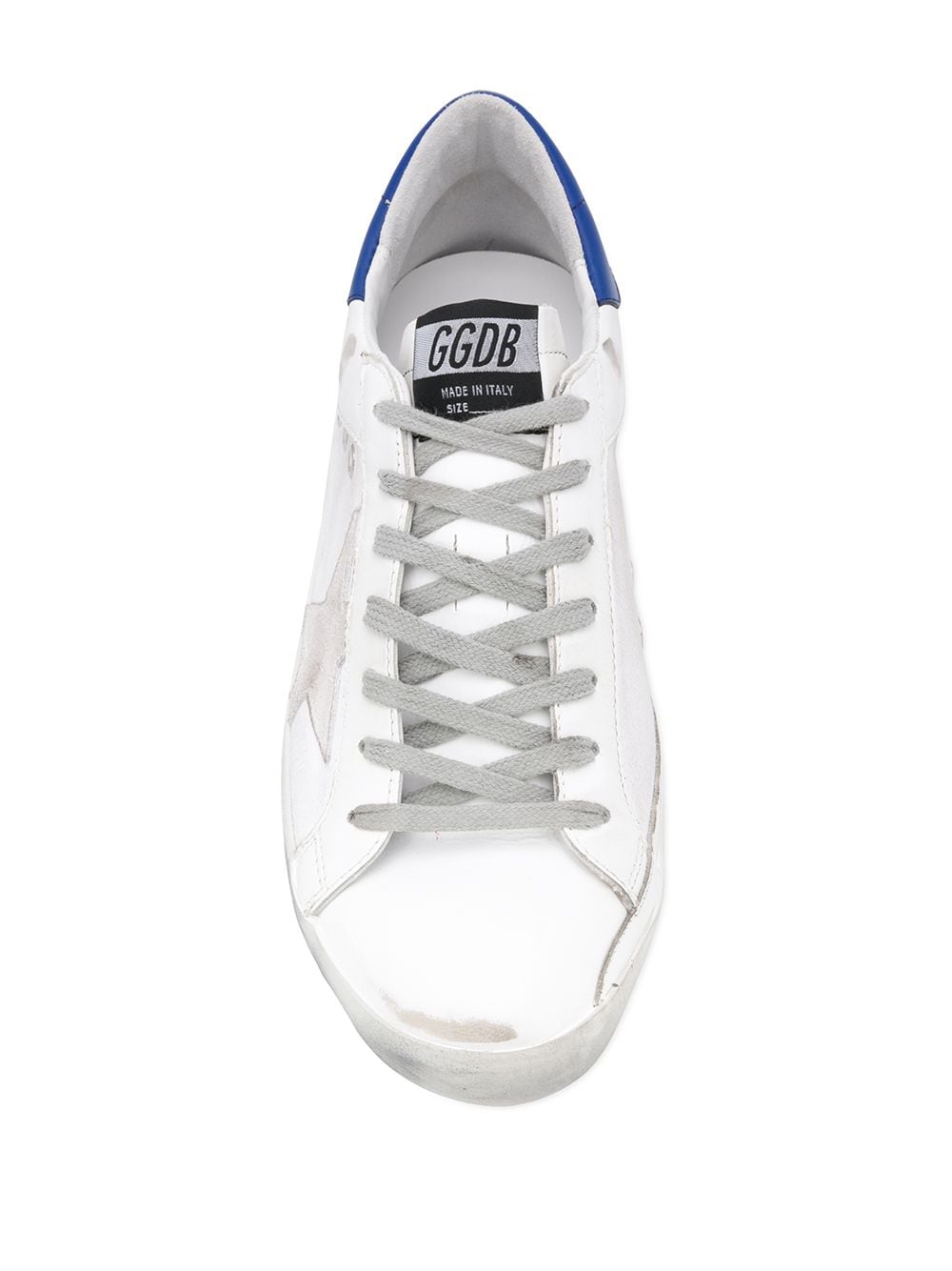Picture of Golden Goose Deluxe Brand | Superstar Writing Print Sneakers