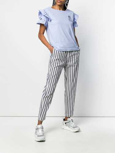 Picture of Semicouture | Striped Straight Trousers
