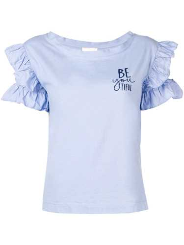Picture of Semicouture | Ruffled Sleeves T-Shirt