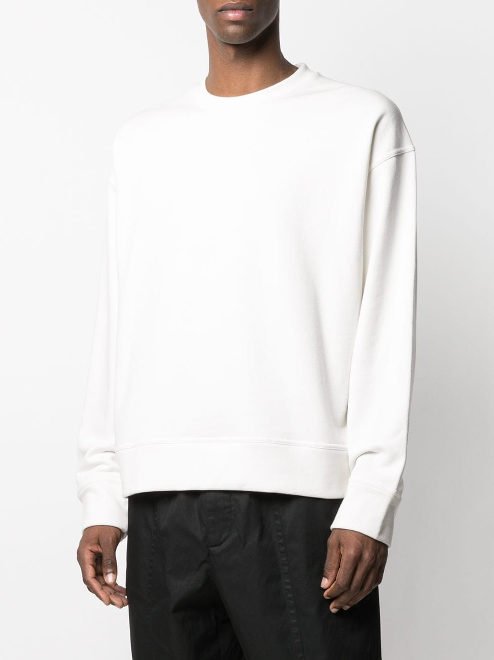 Picture of Jil Sander | Slogan-Print Crew-Neck Sweatshirt