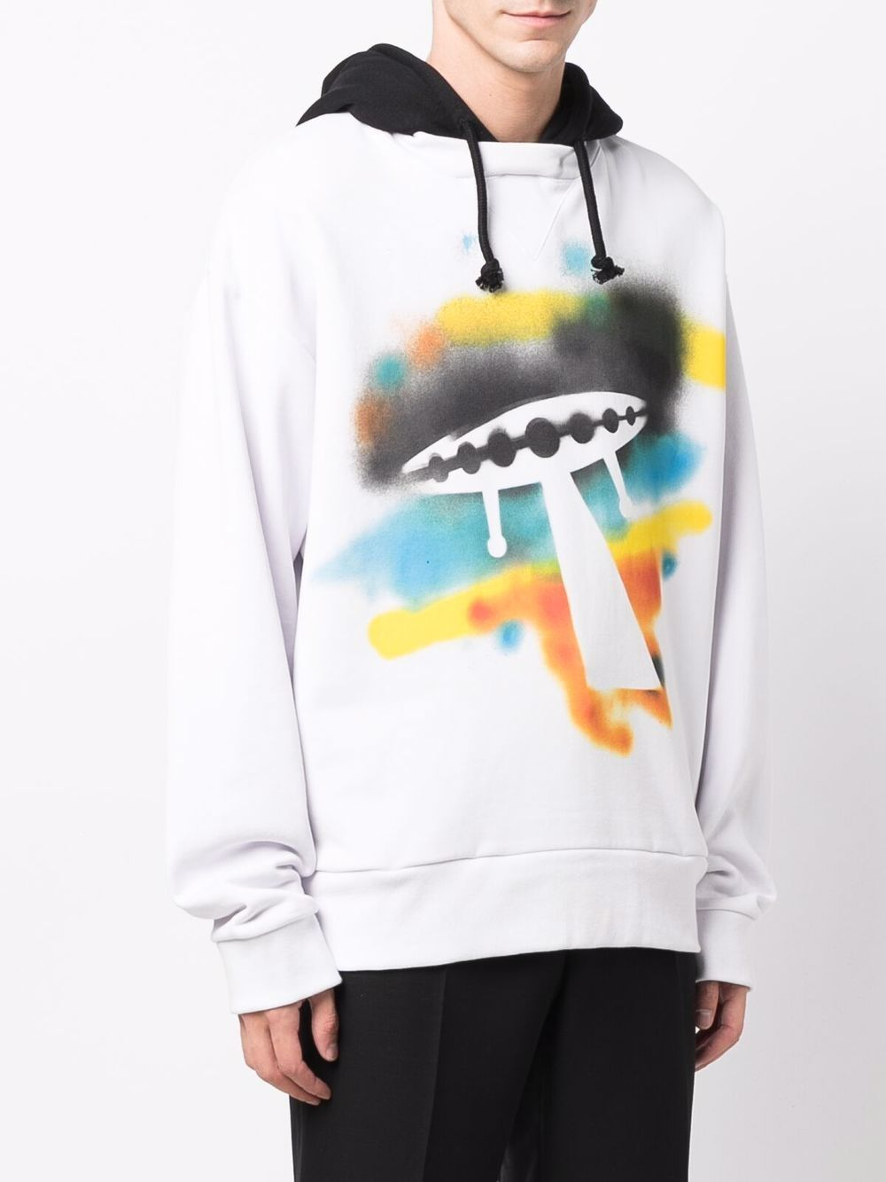 Picture of Marni   Ufo Graphic Cotton Hoodie