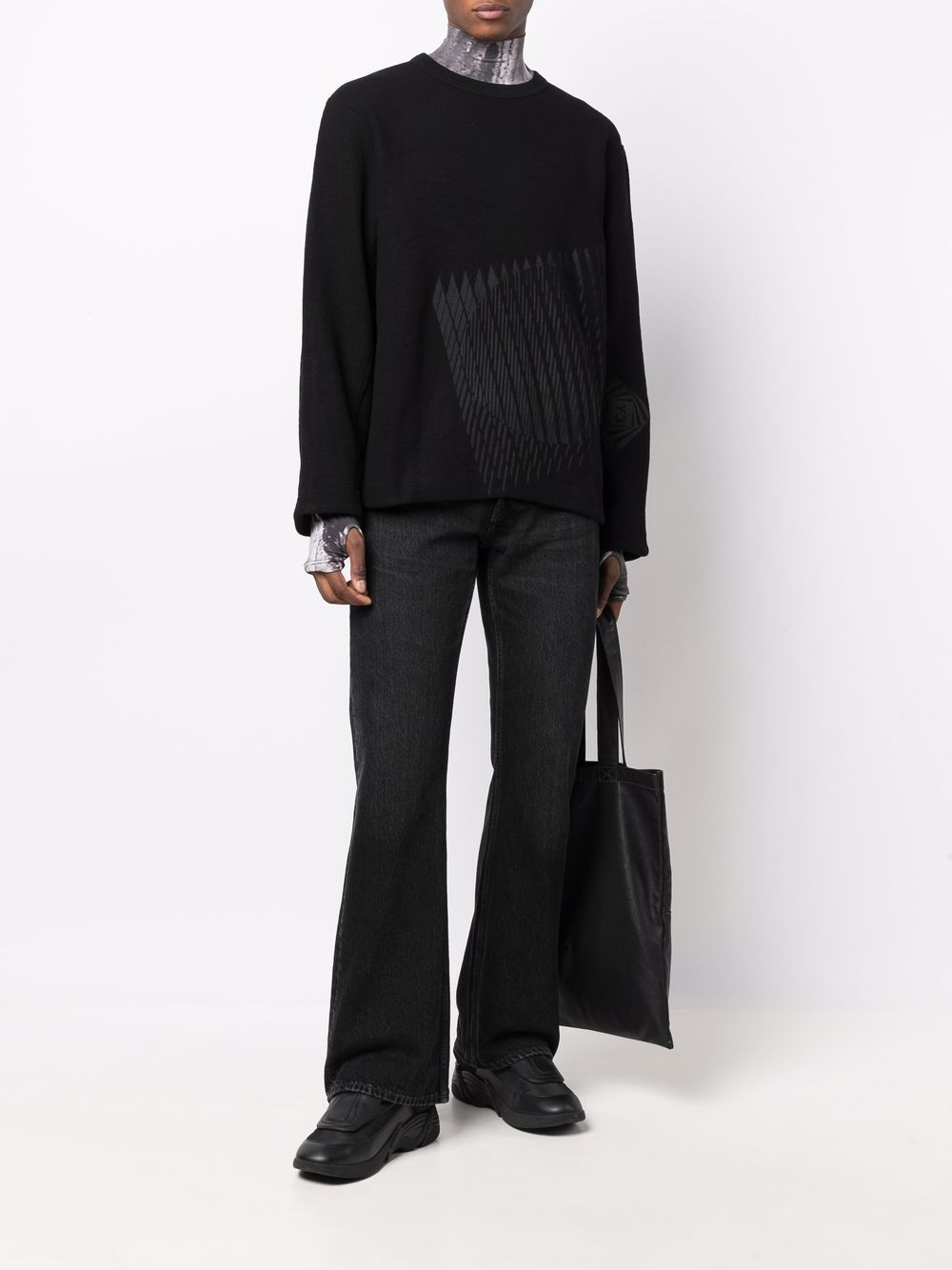 Picture of Adidas Y-3   Graphic-Print Long-Sleeved Jumper