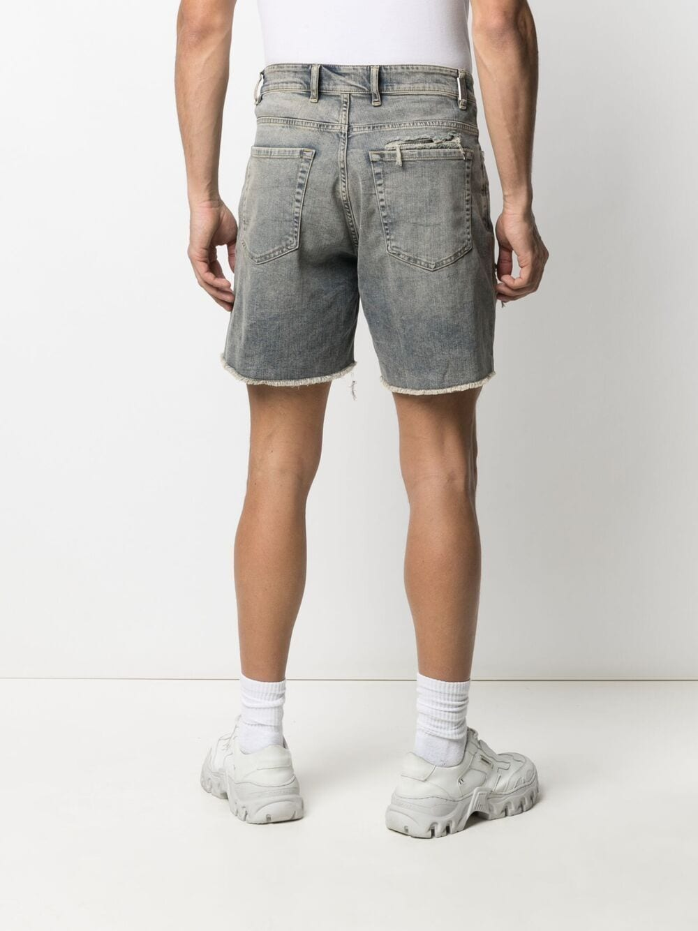 Picture of Represent   Distressed Denim Shorts