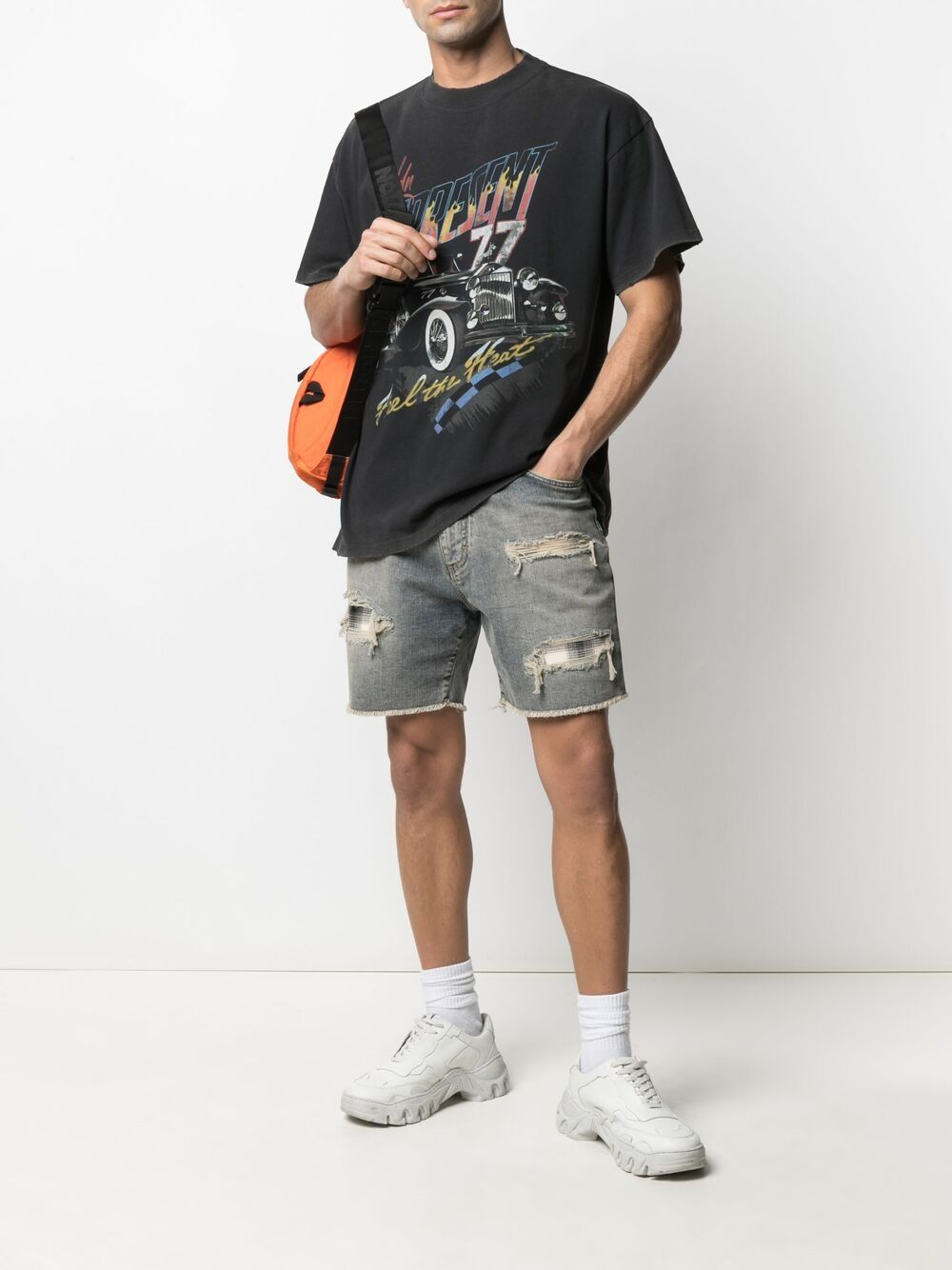 Picture of Represent | Distressed Denim Shorts