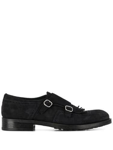 Picture of Doucal`S | Fringed Trim Monk Shoes