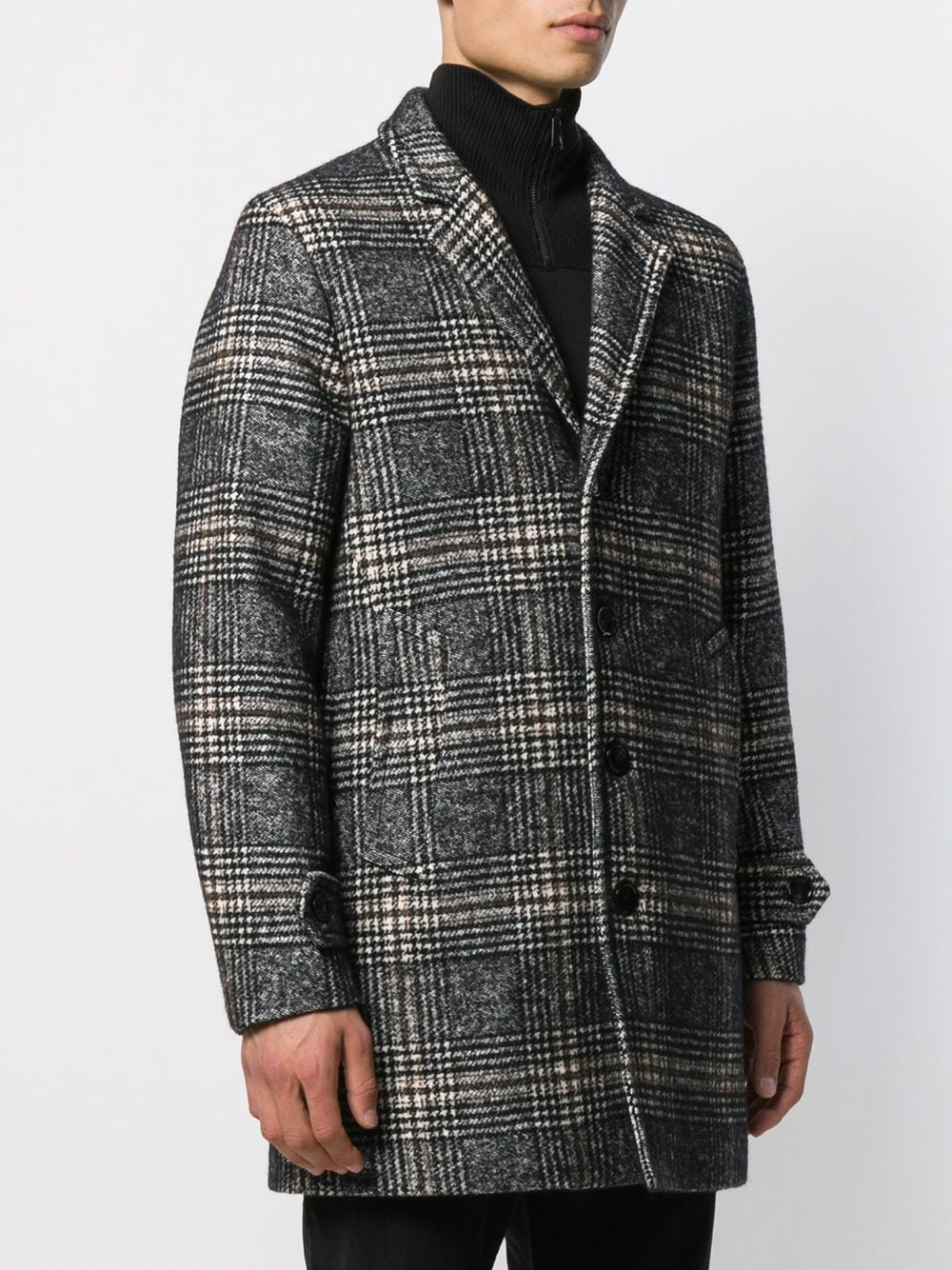 Picture of Palto` | Checked Single Breasted Coat