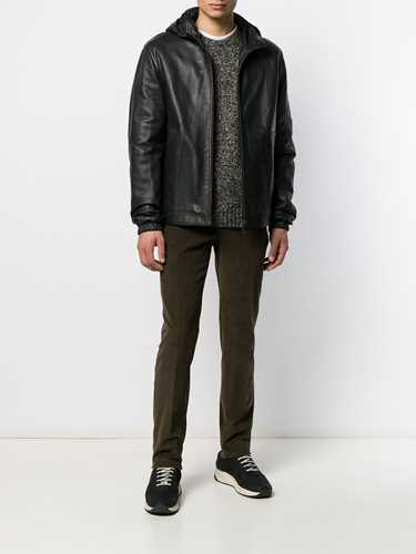 Picture of Aspesi | Hooded Leather Jacket