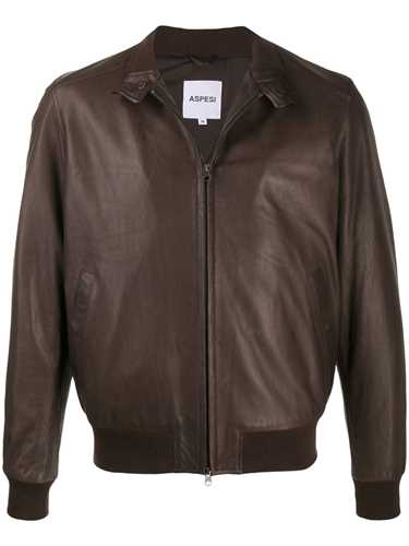 Picture of Aspesi | Zipped Leather Jacket