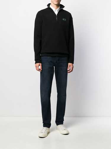 Picture of Maison Kitsune` | Logo Embroidered Front Zip Jumper