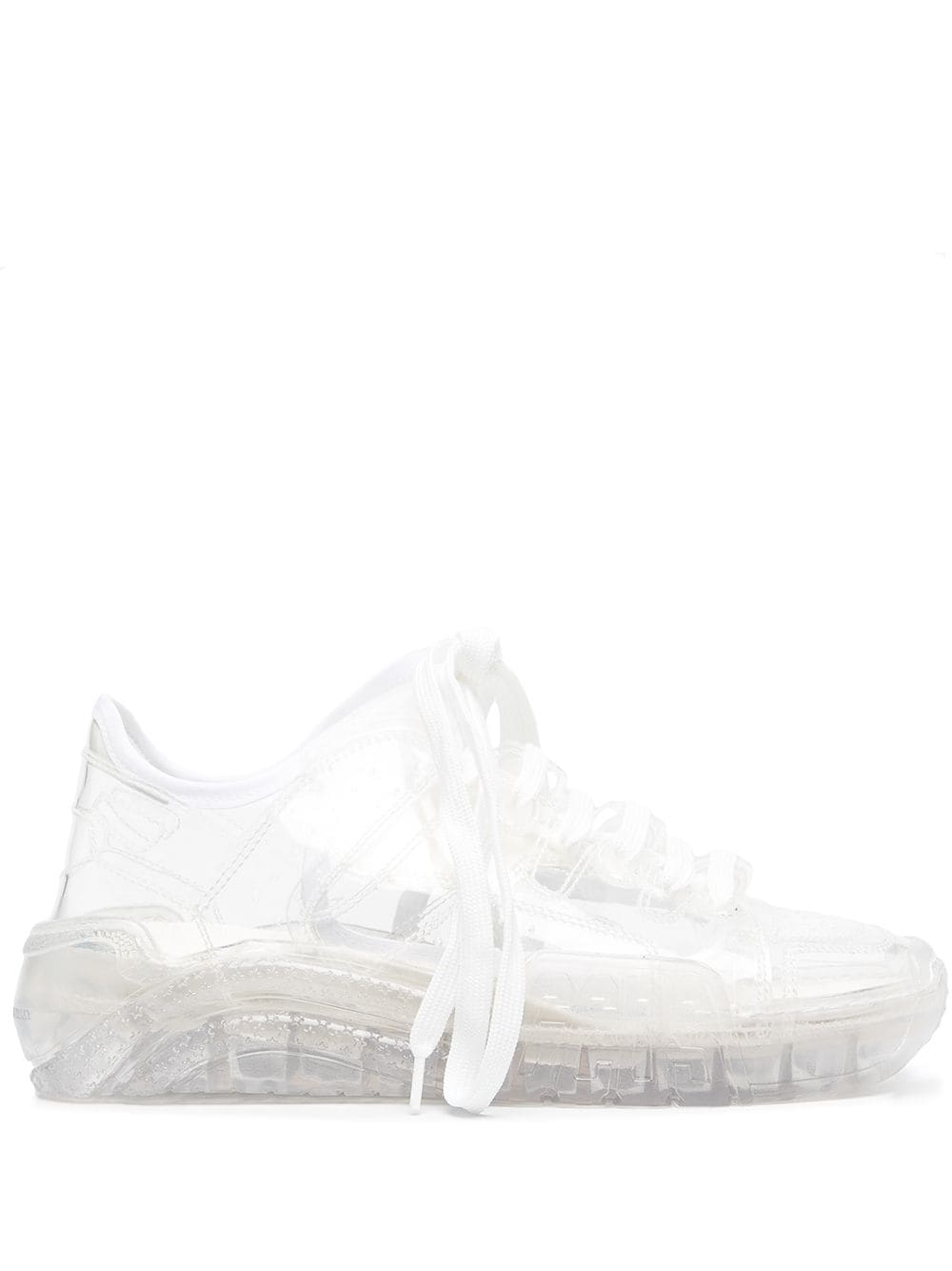 Picture of Gcds   Sheer Lace-Up Sneakers