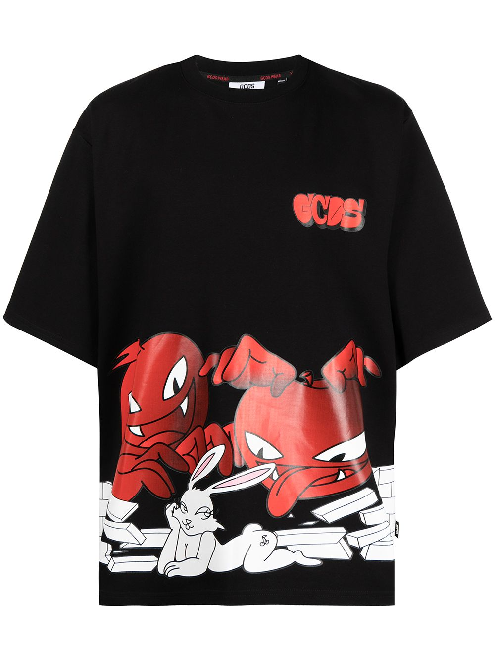 Picture of Gcds   Cartoon-Print T-Shirt