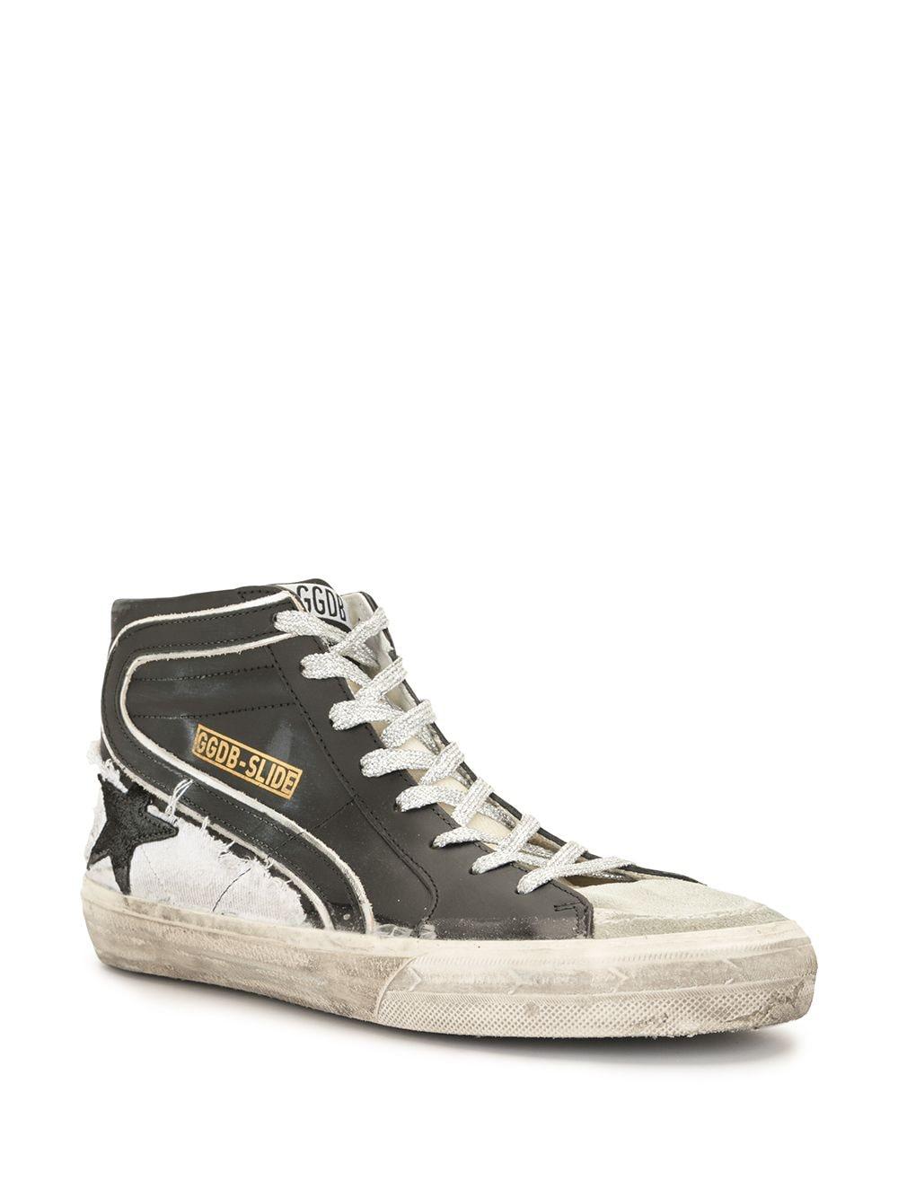 Picture of Golden Goose Deluxe Brand   Slide High-Top Sneakers