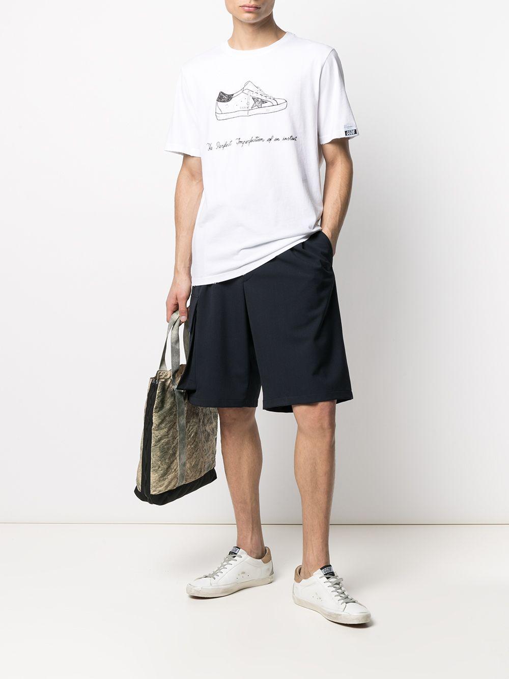 Picture of Golden Goose Deluxe Brand | Sneaker-Print T-Shirt