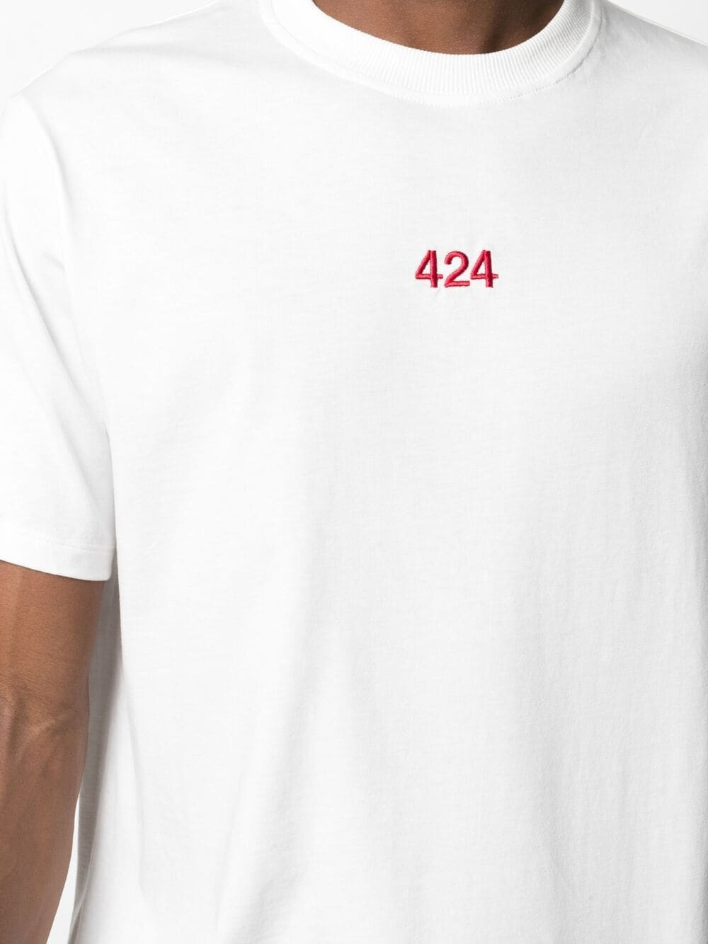 Picture of 424   Logo-Embroidered Cotton T-Shirt