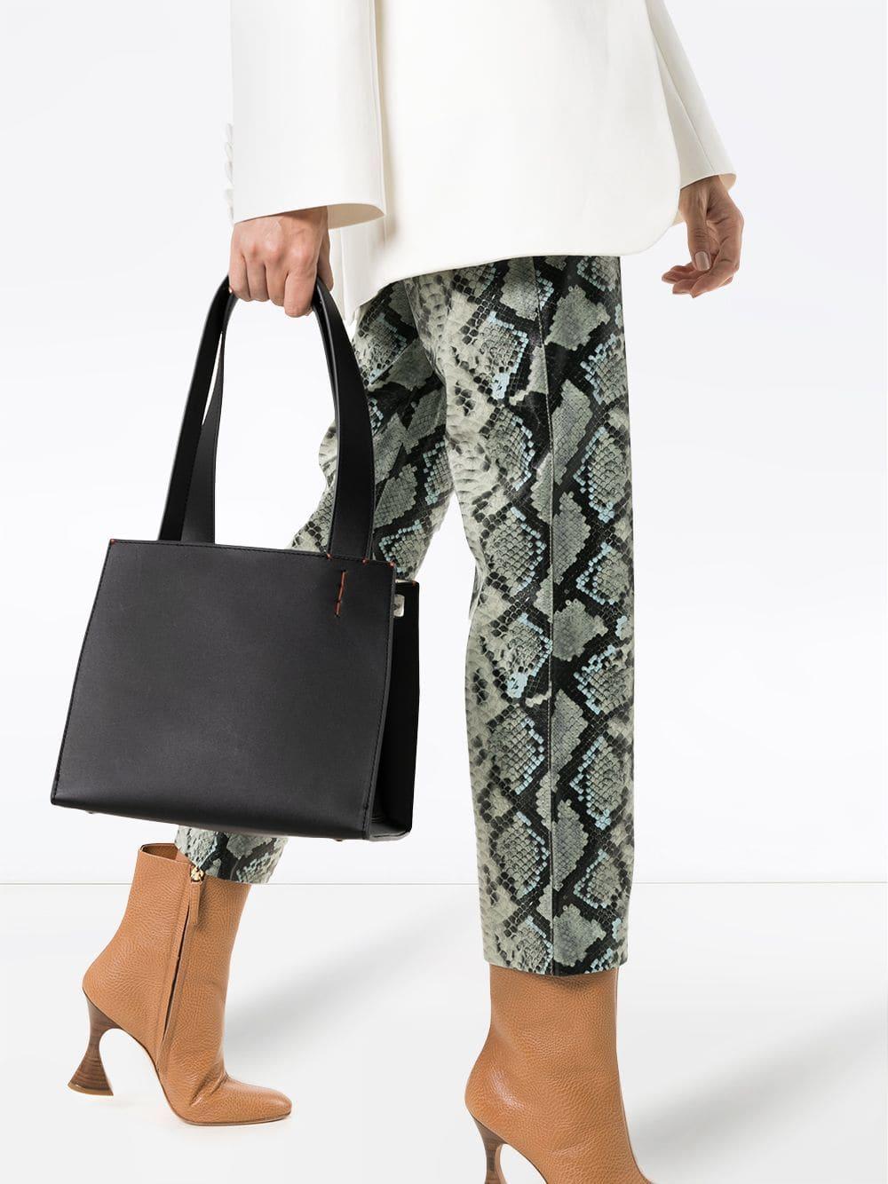 Picture of Danse Lente | Black Margot Calf Leather Tote Bag
