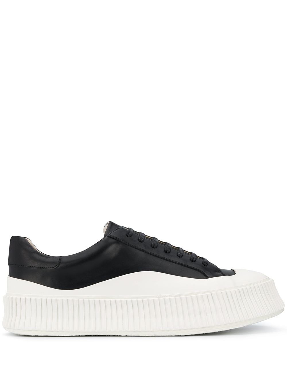 Picture of Jil Sander | Lace-Up Leather Sneakers