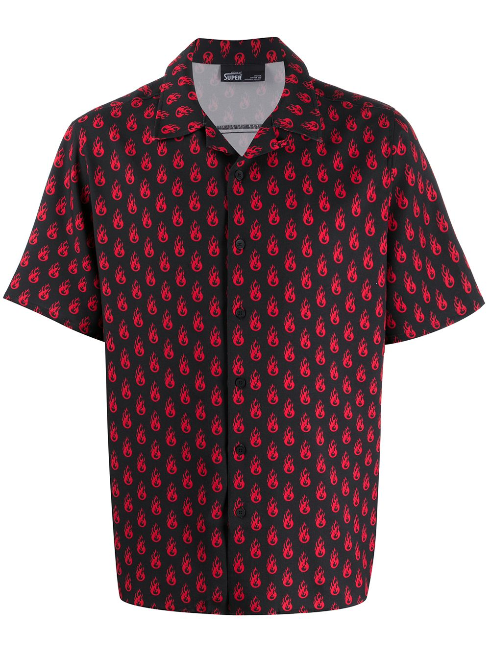 Picture of Vision Of Super   Flame-Print Shirt