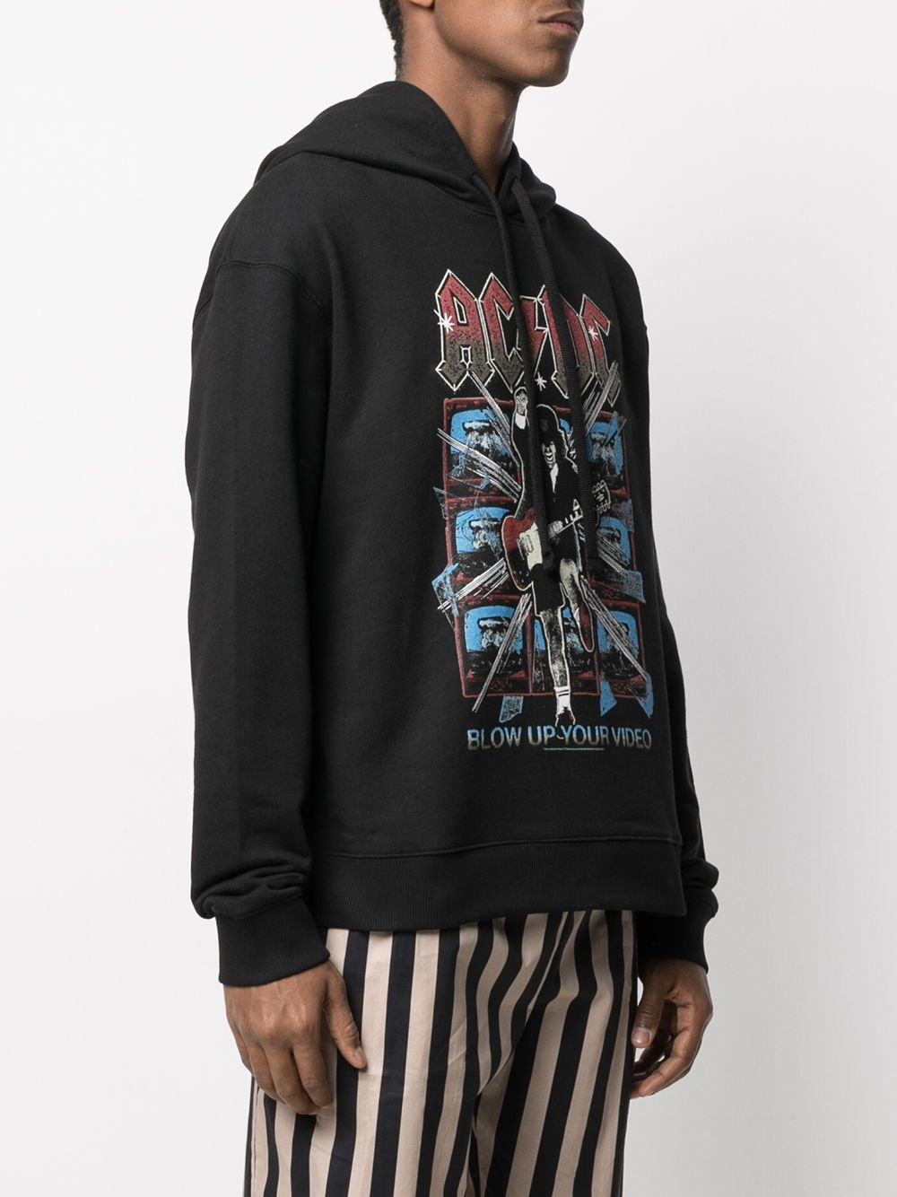 Picture of Ih Nom Uh Nit | Acdc Print Cotton Hoodie