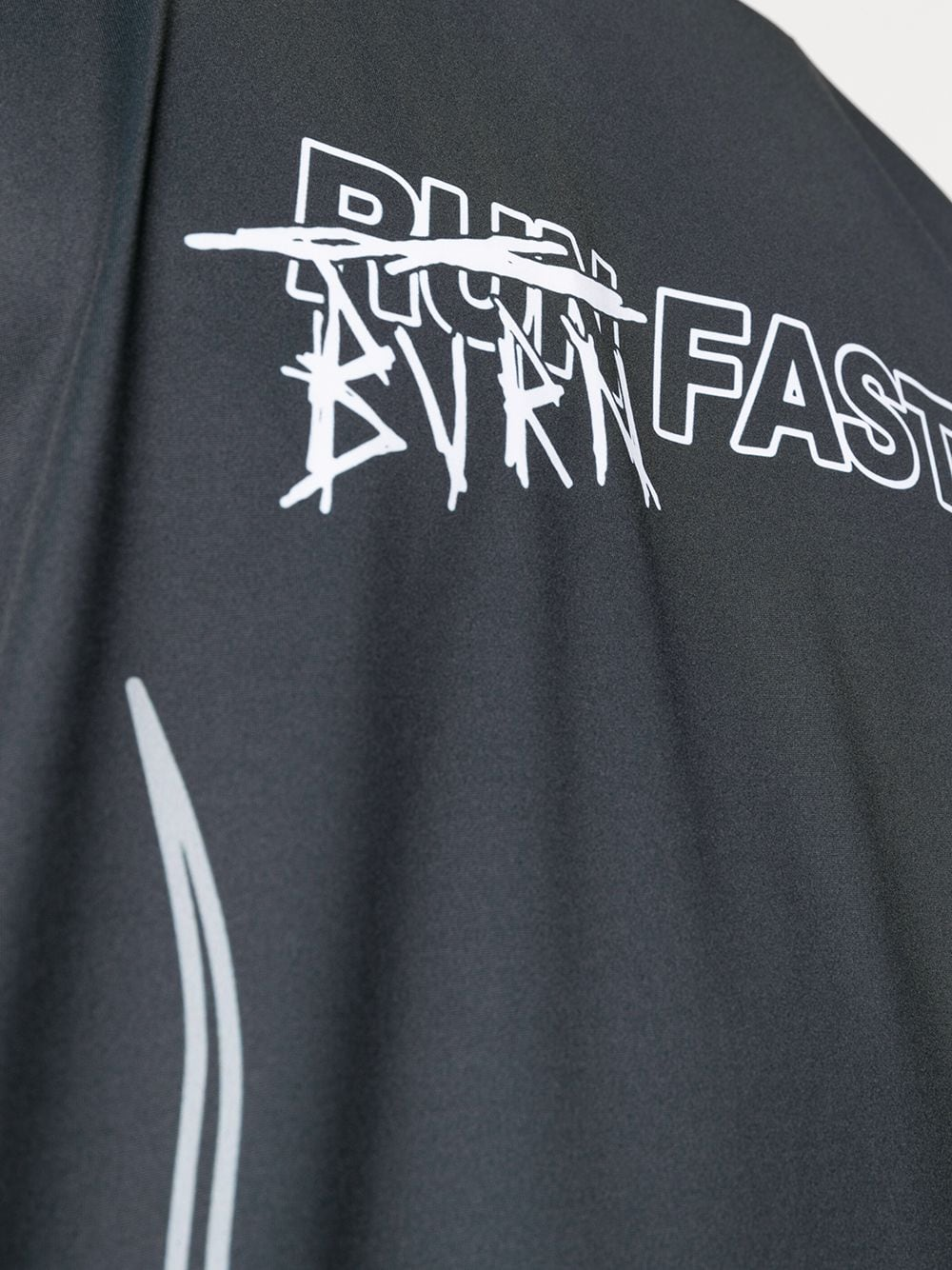 Picture of Vision Of Super   Burn Fast Flame Print Performance T-Shirt