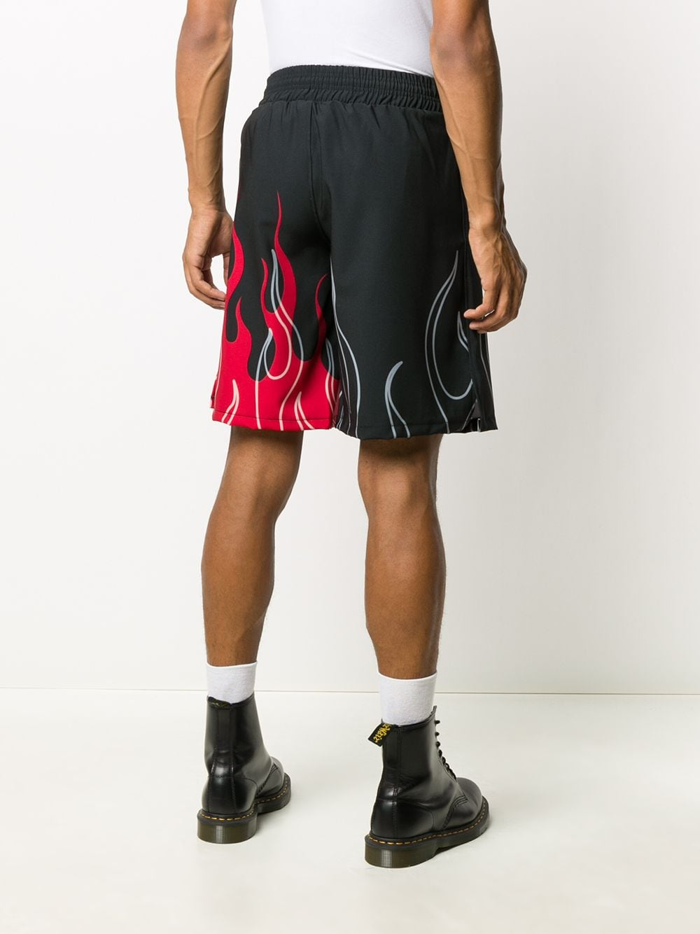 Picture of Vision Of Super | Flames-Print Track Shorts