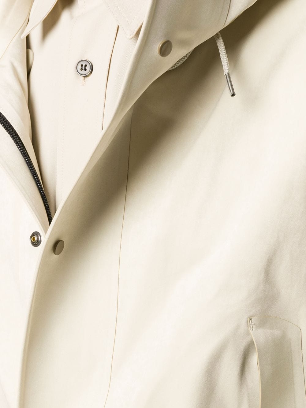 Picture of Ten C | Lightweight Hooded Parka Coat