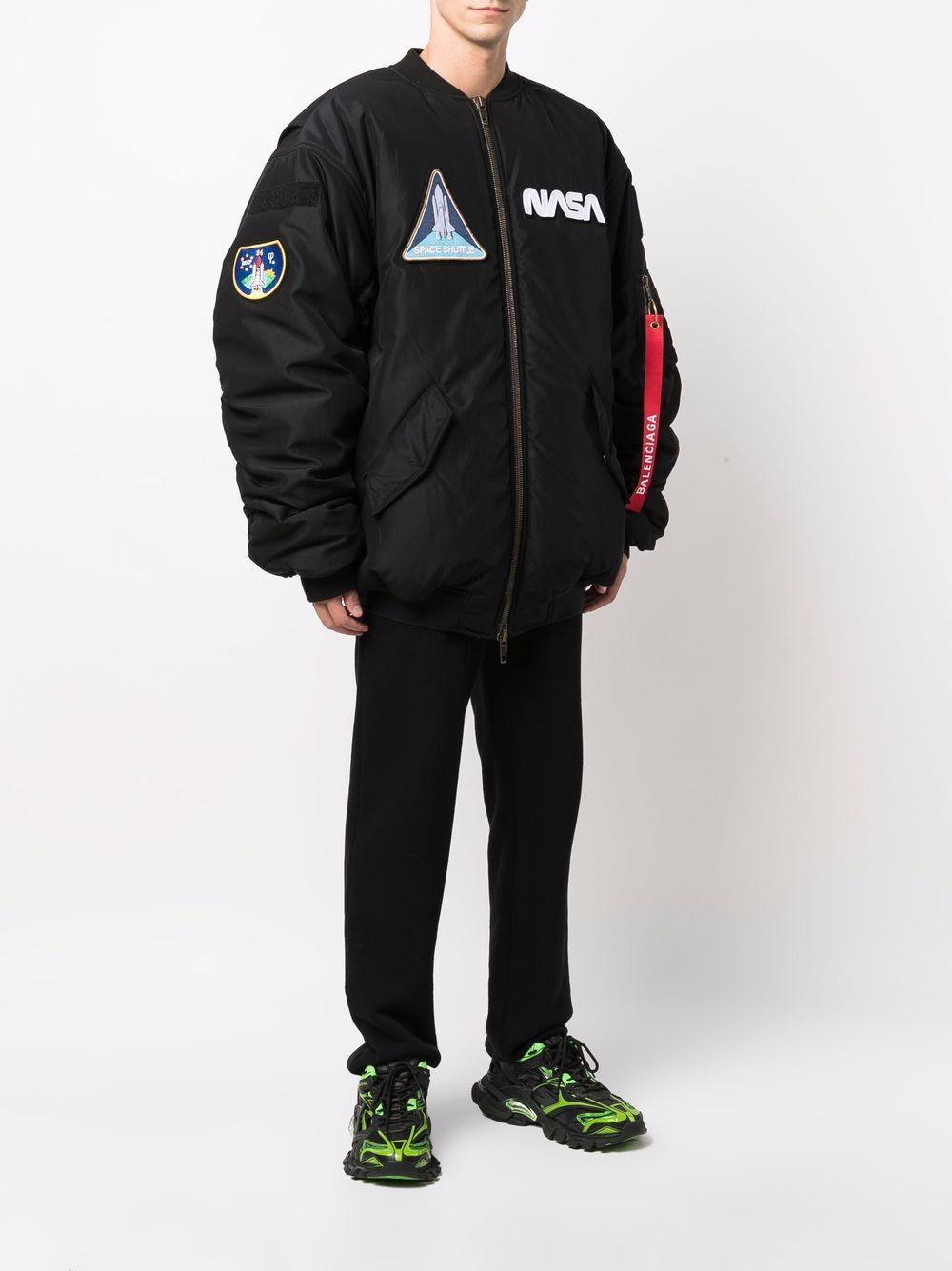 Picture of Balenciaga | Multi-Patch Nasa Bomber Jacket