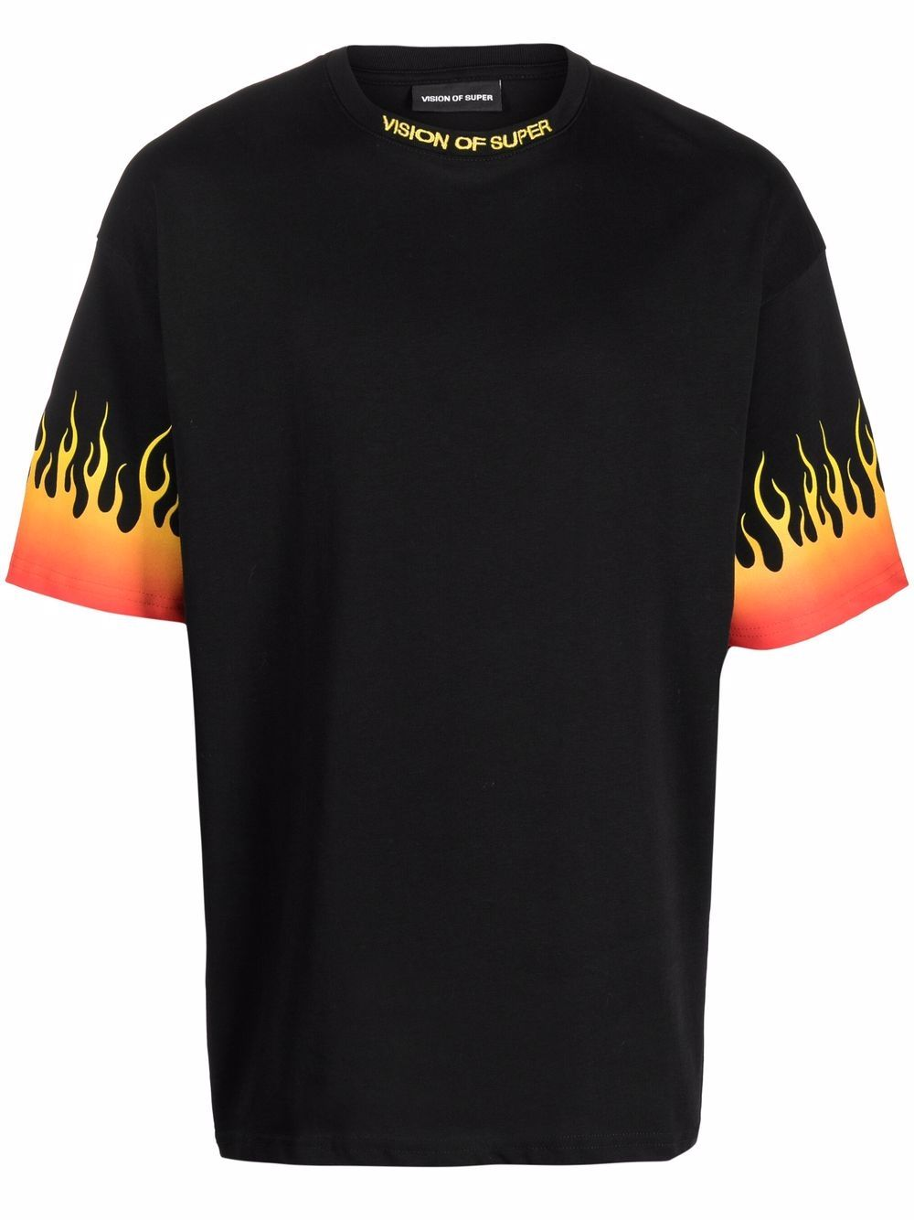 Picture of Vision Of Super | Flame-Print Short-Sleeved T-Shirt