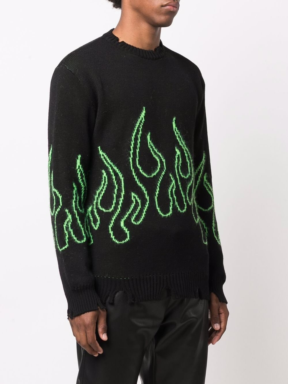 Picture of Vision Of Super | Intarsia-Knit Flame Jumper