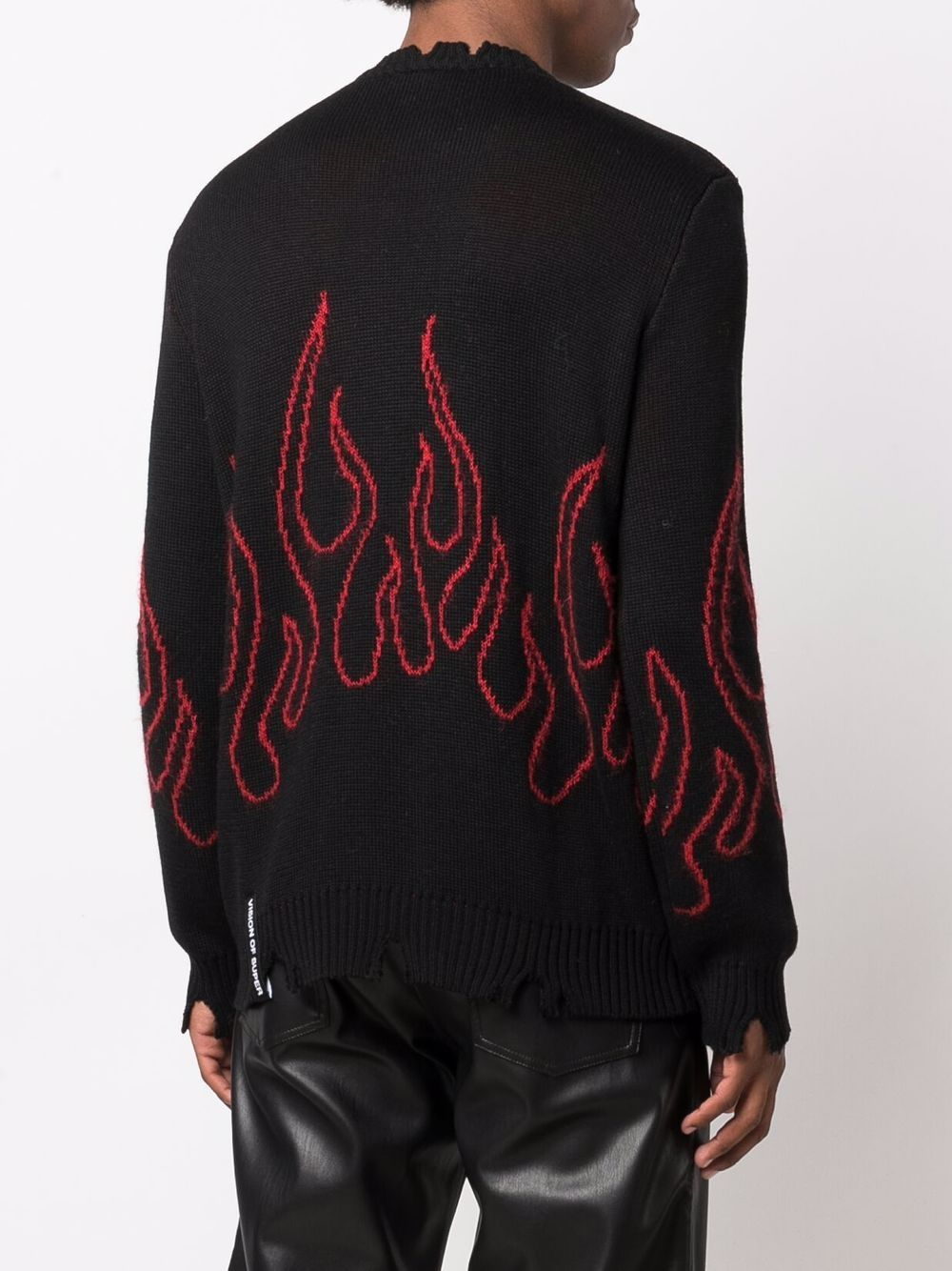 Picture of Vision Of Super   Intarsia-Knit Flame Jumper