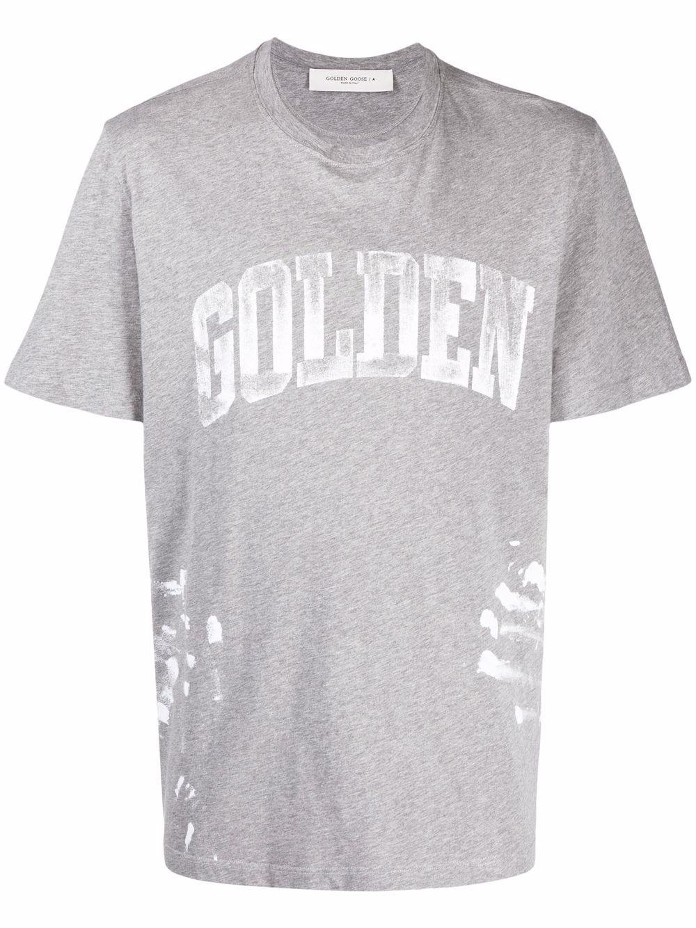 Picture of Golden Goose Deluxe Brand | Paint-Splatter Logo T-Shirt