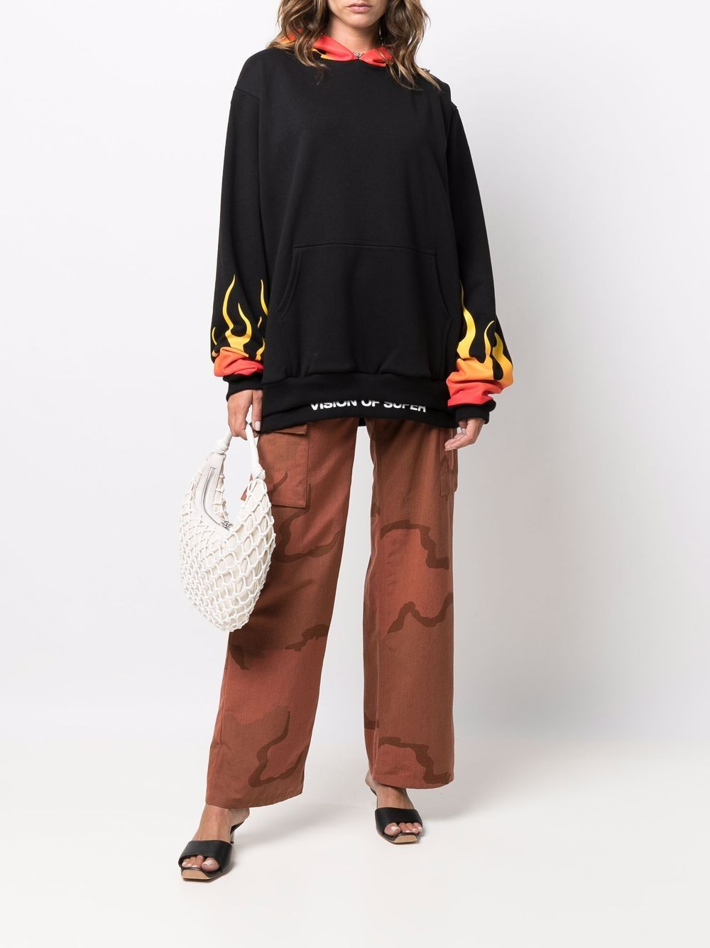 Picture of Vision Of Super | Flame Print Sweatshirt
