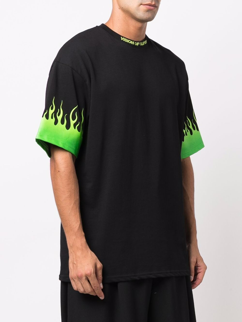 Picture of Vision Of Super   Flames  Green Tshirt