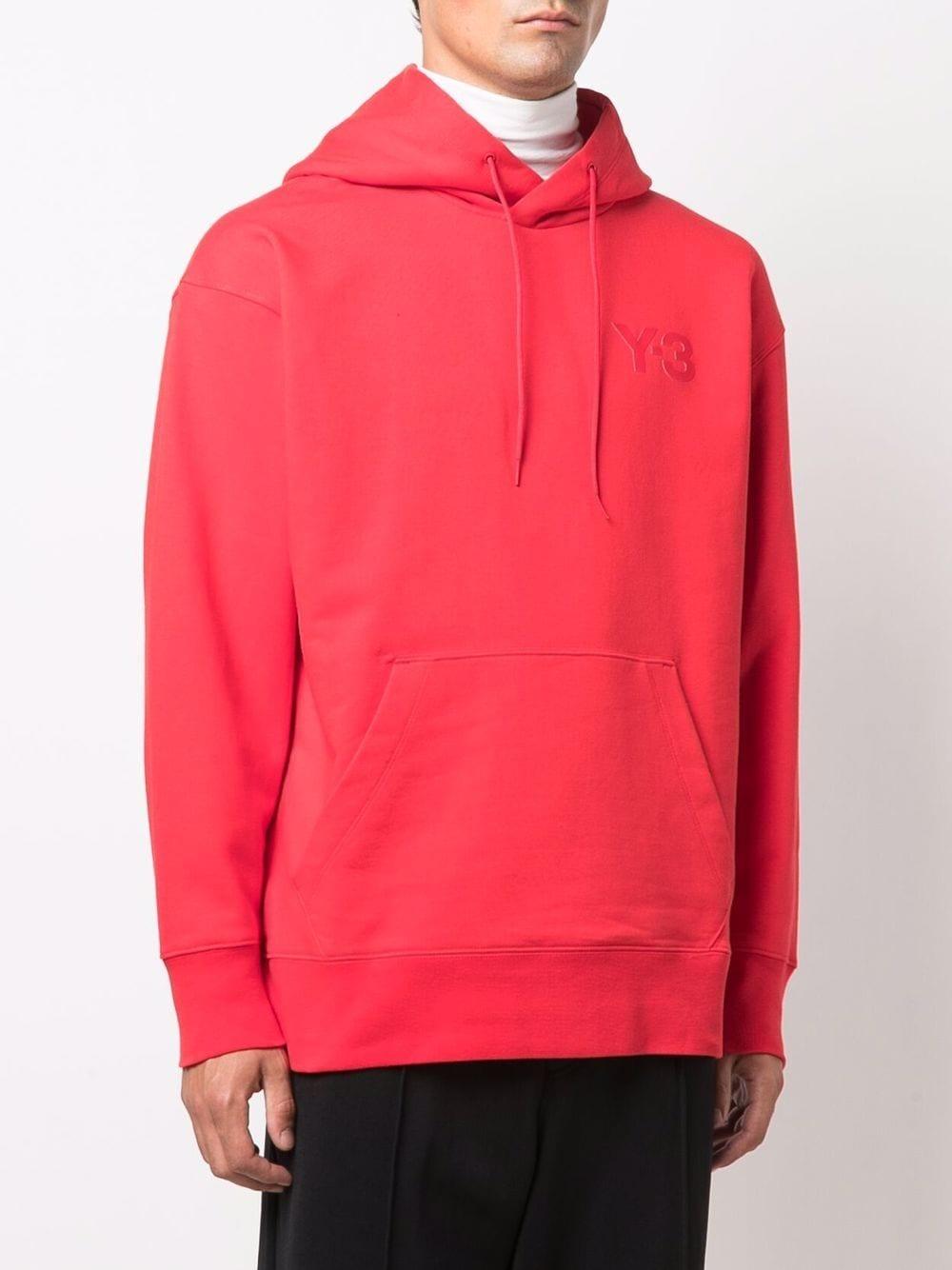 Picture of Adidas Y-3   Logo Print Hoodie