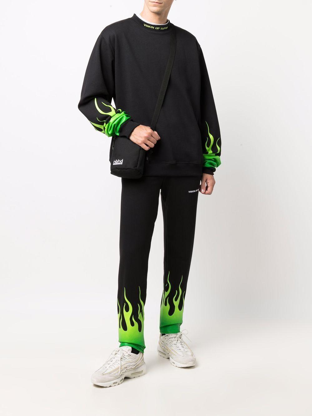 Picture of Vision Of Super | Flame Logo-Mock Neck Sweatshirt