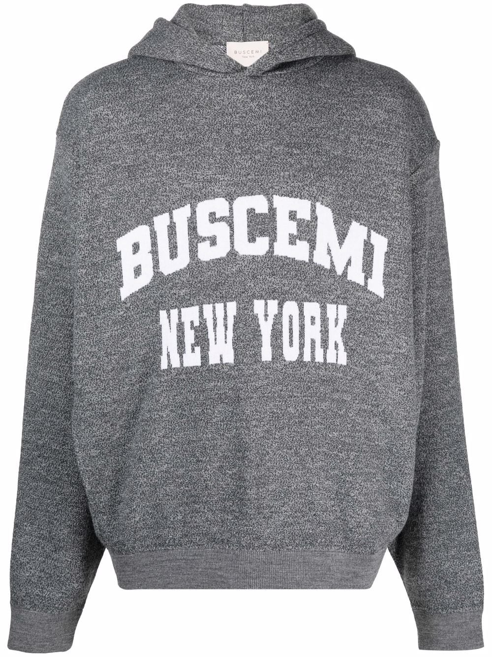 Picture of Buscemi   Logo-Print Hoodie