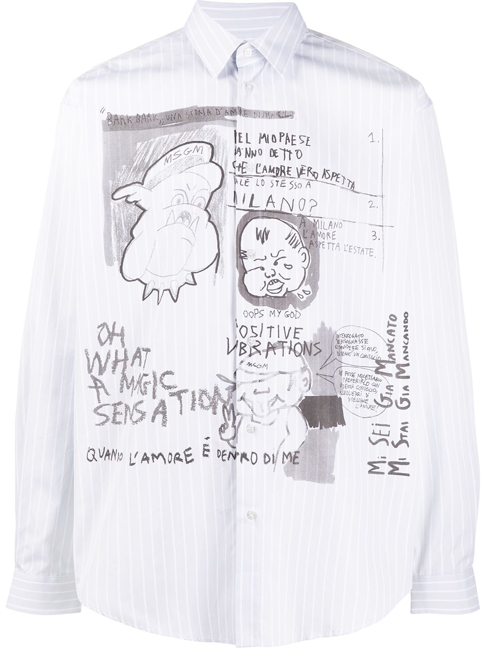 Picture of Msgm | Illustration Print Shirt