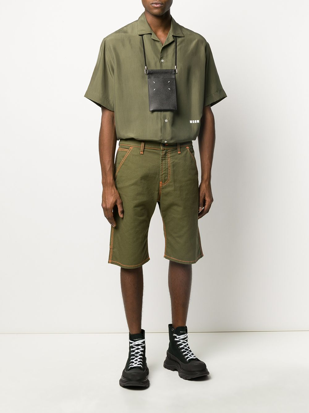 Picture of Msgm | Short-Sleeved Buttoned Shirt