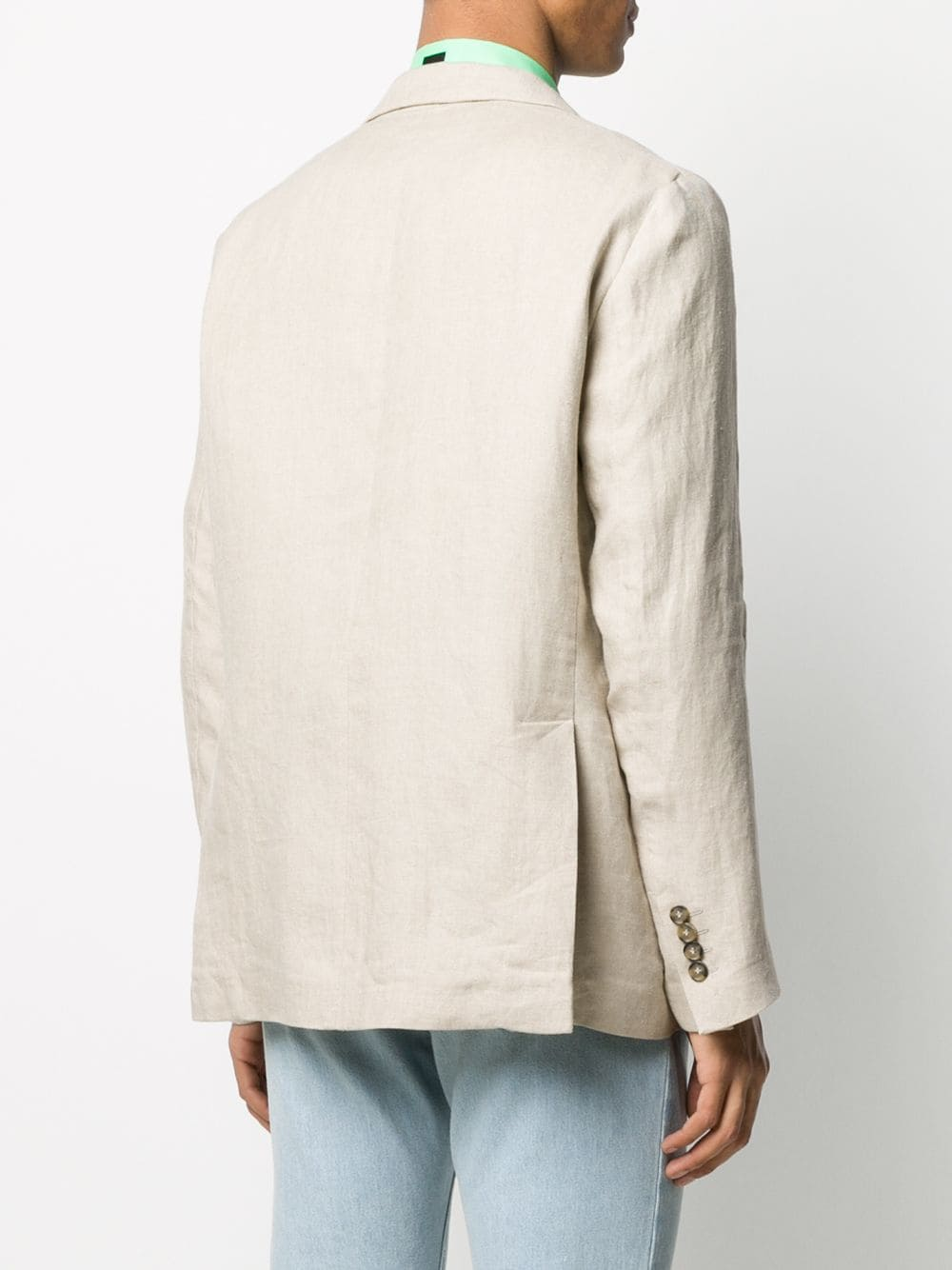 Picture of Msgm | Single-Breasted Sketch-Print Blazer