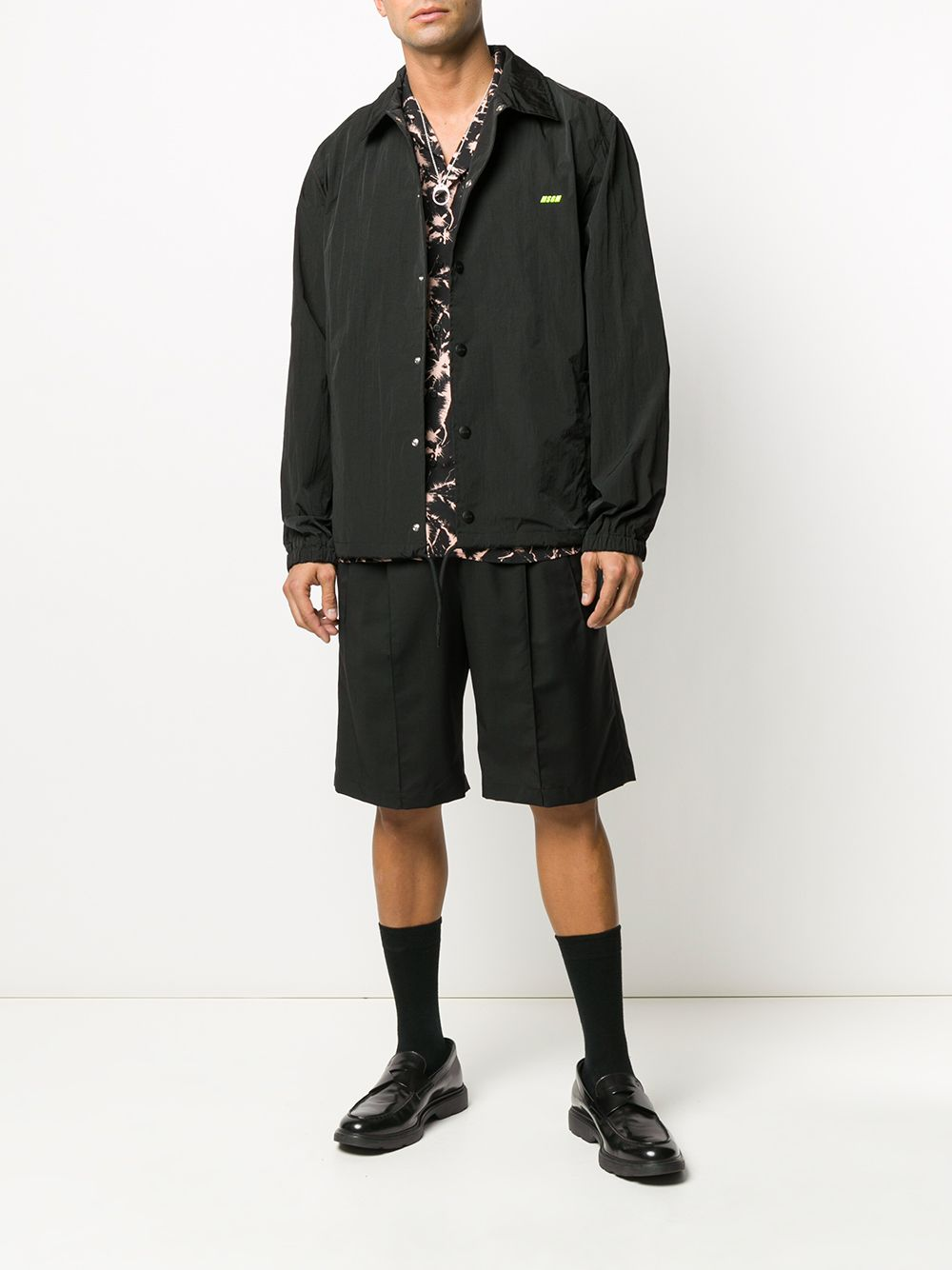 Picture of Msgm | Logo Detail Coach Jacket