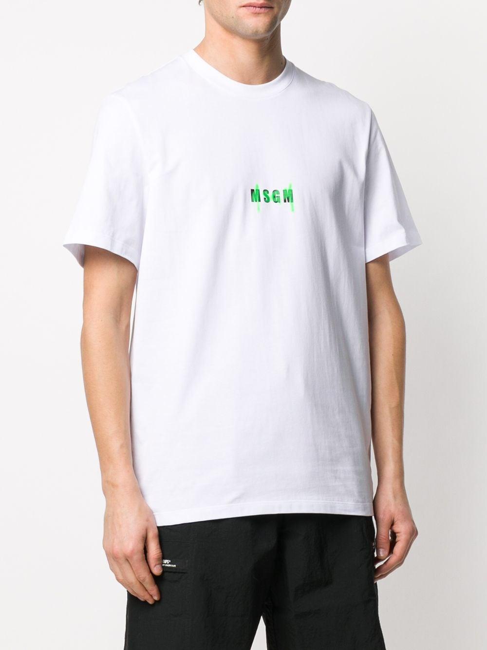 Picture of Msgm   Graffiti Logo Print T-Shirt