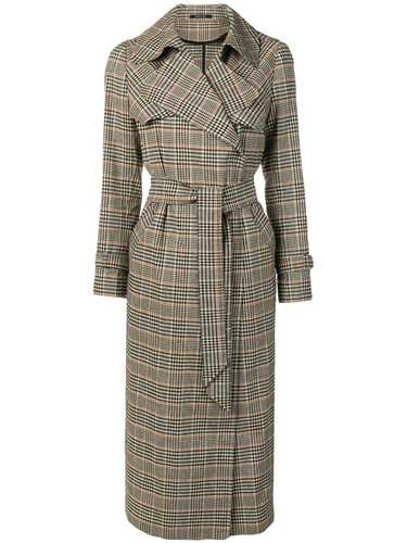 Picture of Tagliatore | Checked Trench Coat