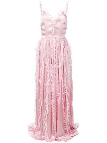 Picture of Brognano   Ruffled Trim Long Dress